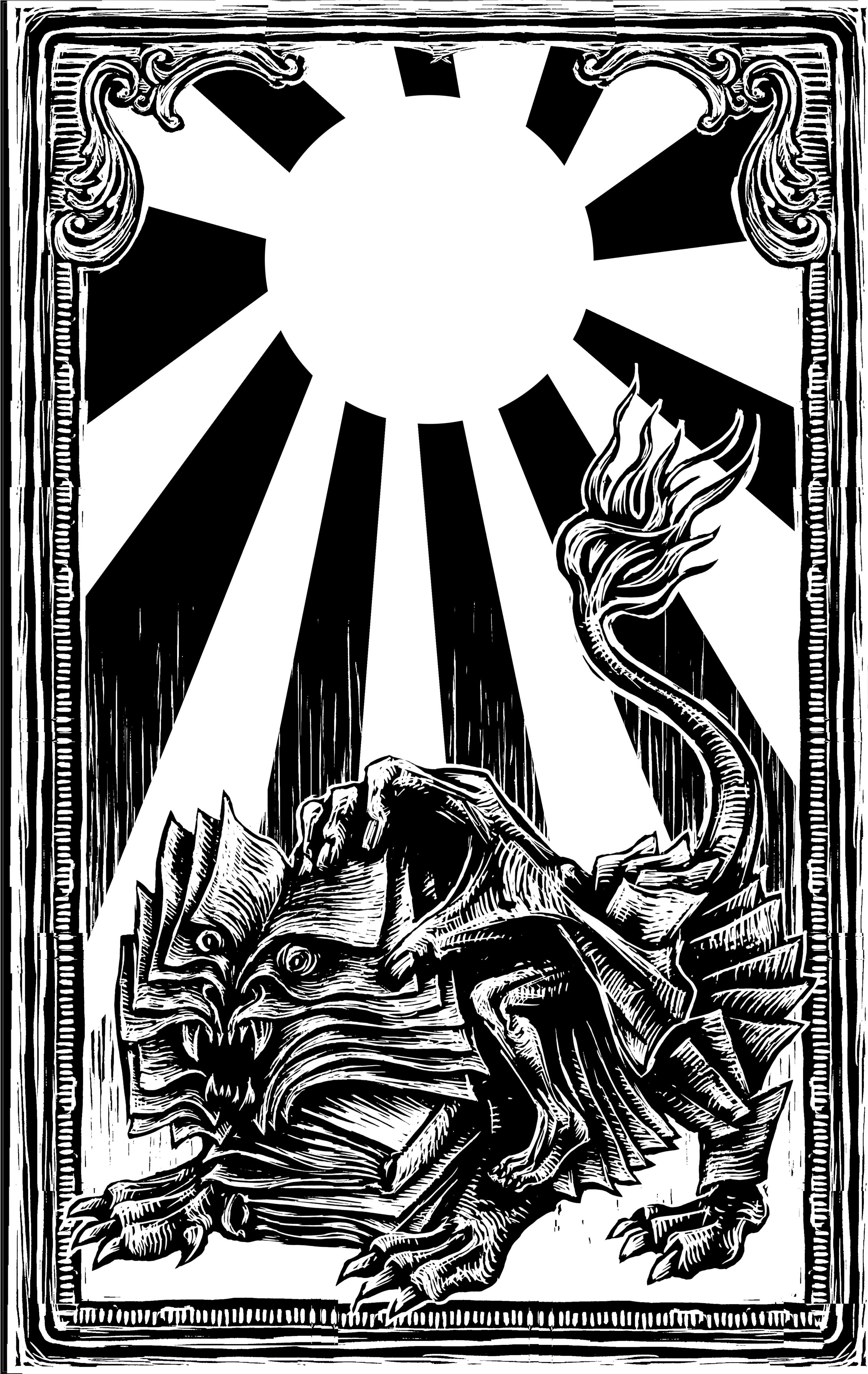 Don Quixote faces the lions