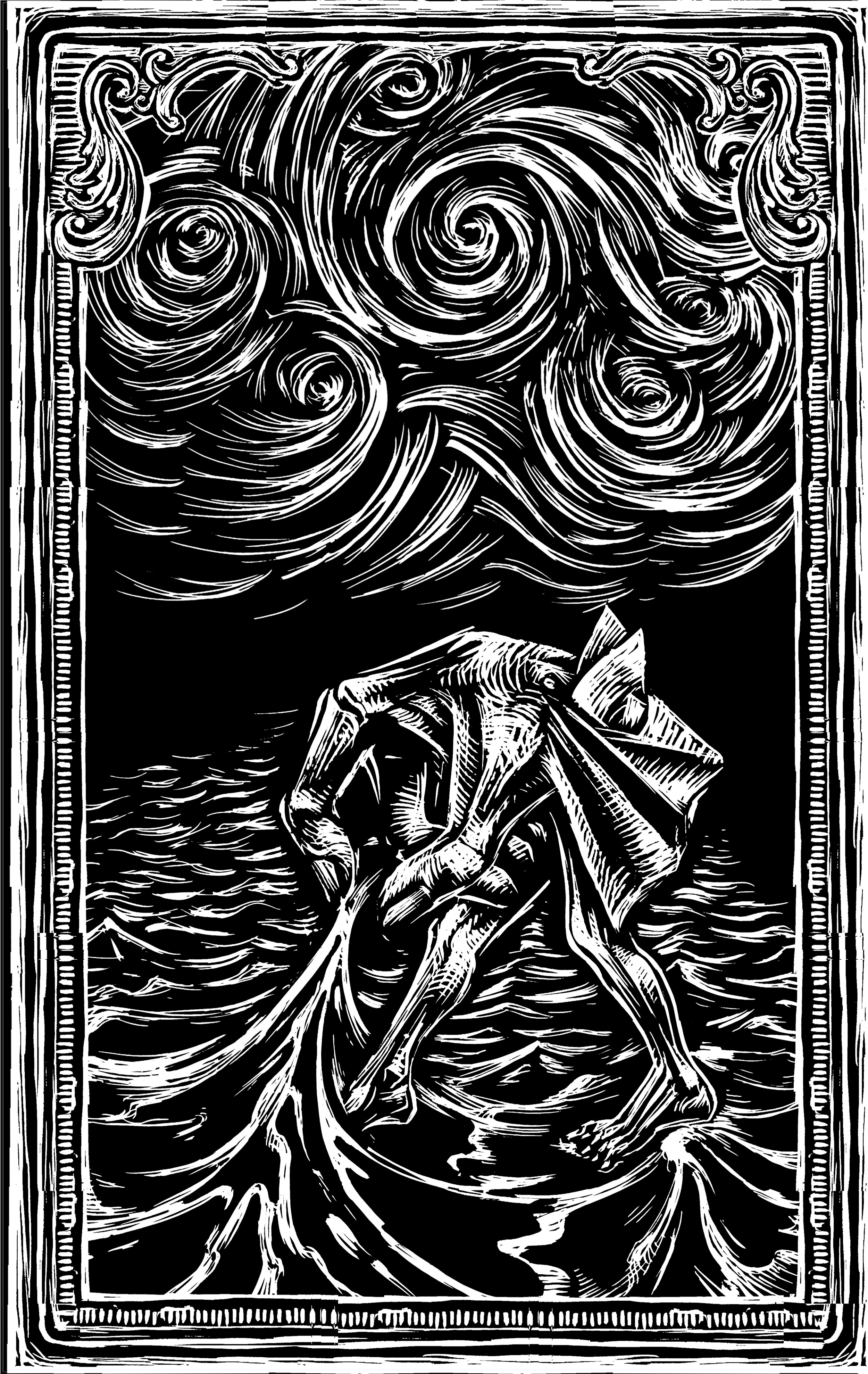 Don Quixote, upon entering Barcelona, contemplates the sea