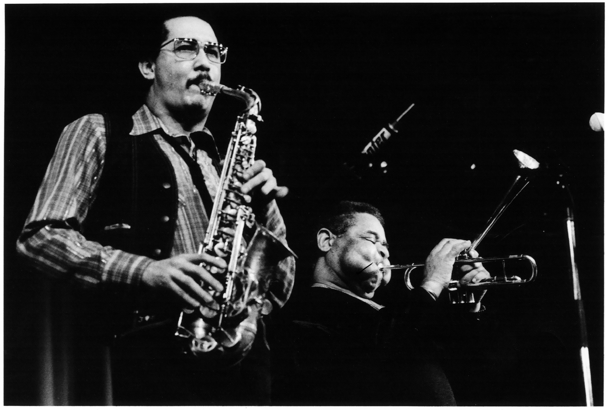 Paquito with Dizzy Gillespie (Courtesy of Paquito D' Rivera)