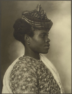 """""""Guadeloupean Woman"""" photographed by Augustus F. Sherman upon entry to Ellis Island in 1911. Photo courtesy of the New York Public Library."""