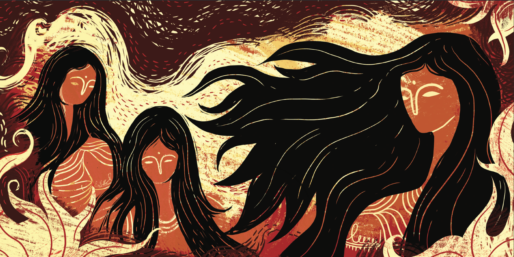 Ramayana 18 - Sita steps into the flames.png