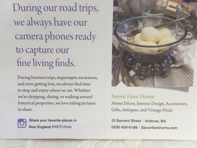 NE Fine Living's Fall issuewill highlightdecorating a home's foyer, that sometimes forgotten space.Lisa Duffy will share her thoughts and a photo ondecorating a Beverly home's foyer!