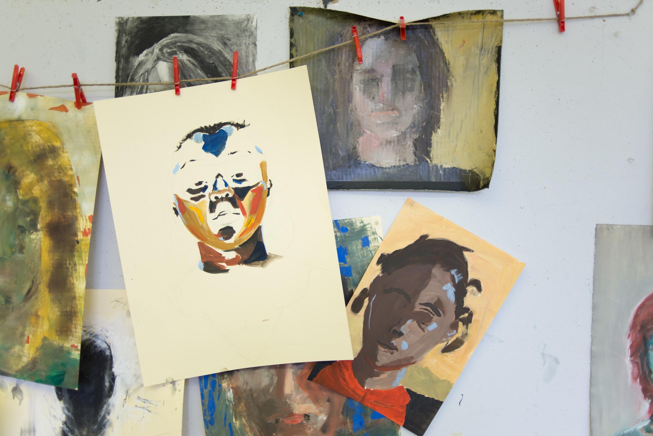 Various Artwork in Clifton Center Classroom