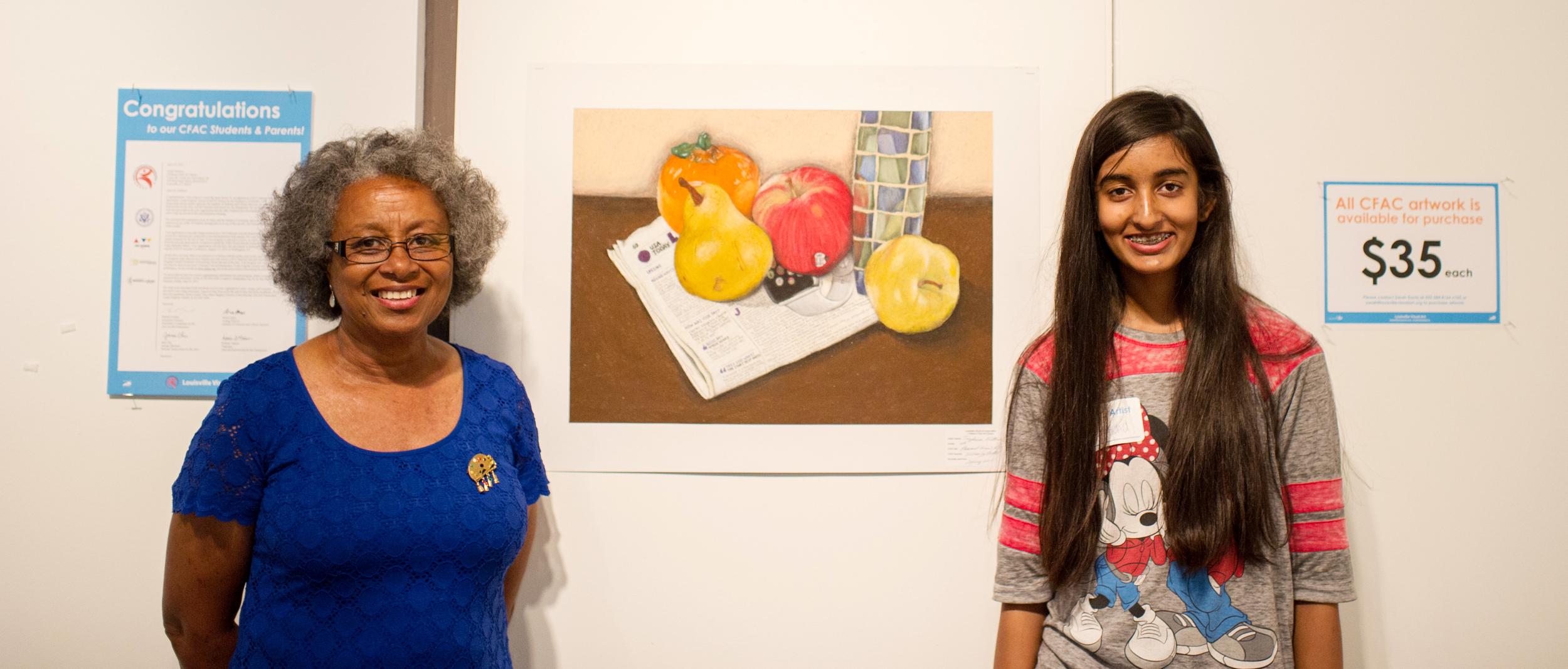 Wilma Bethel with Tryphena Sithu