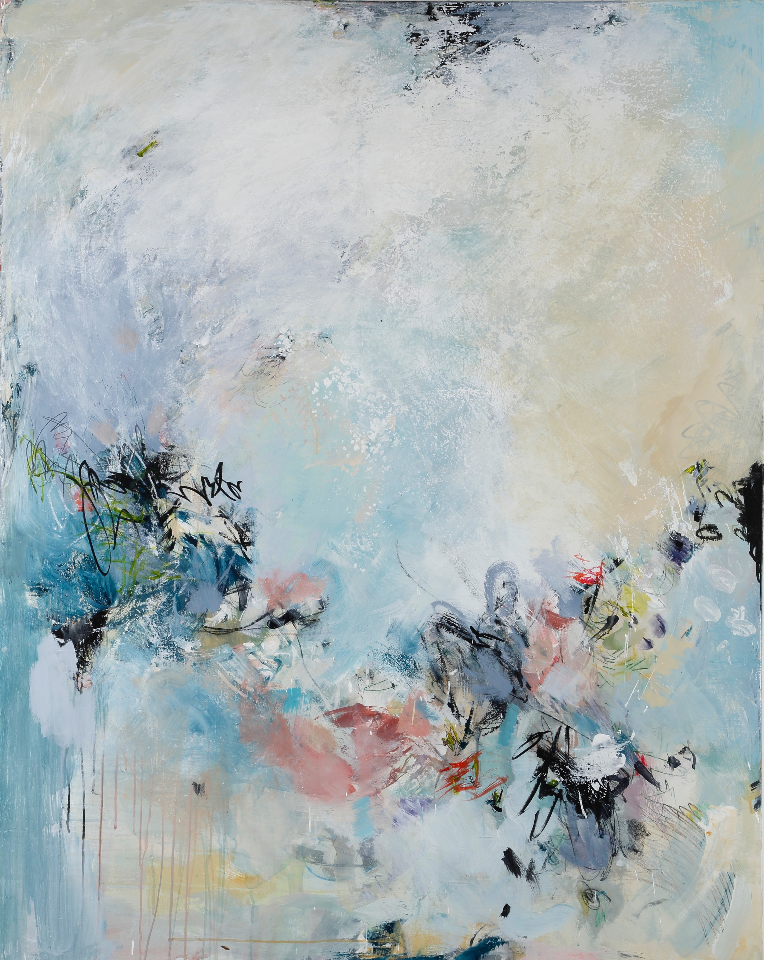 """""""Dive In"""" by Teri Dryden  , 36x48in, acrylic on canvas, $2500 