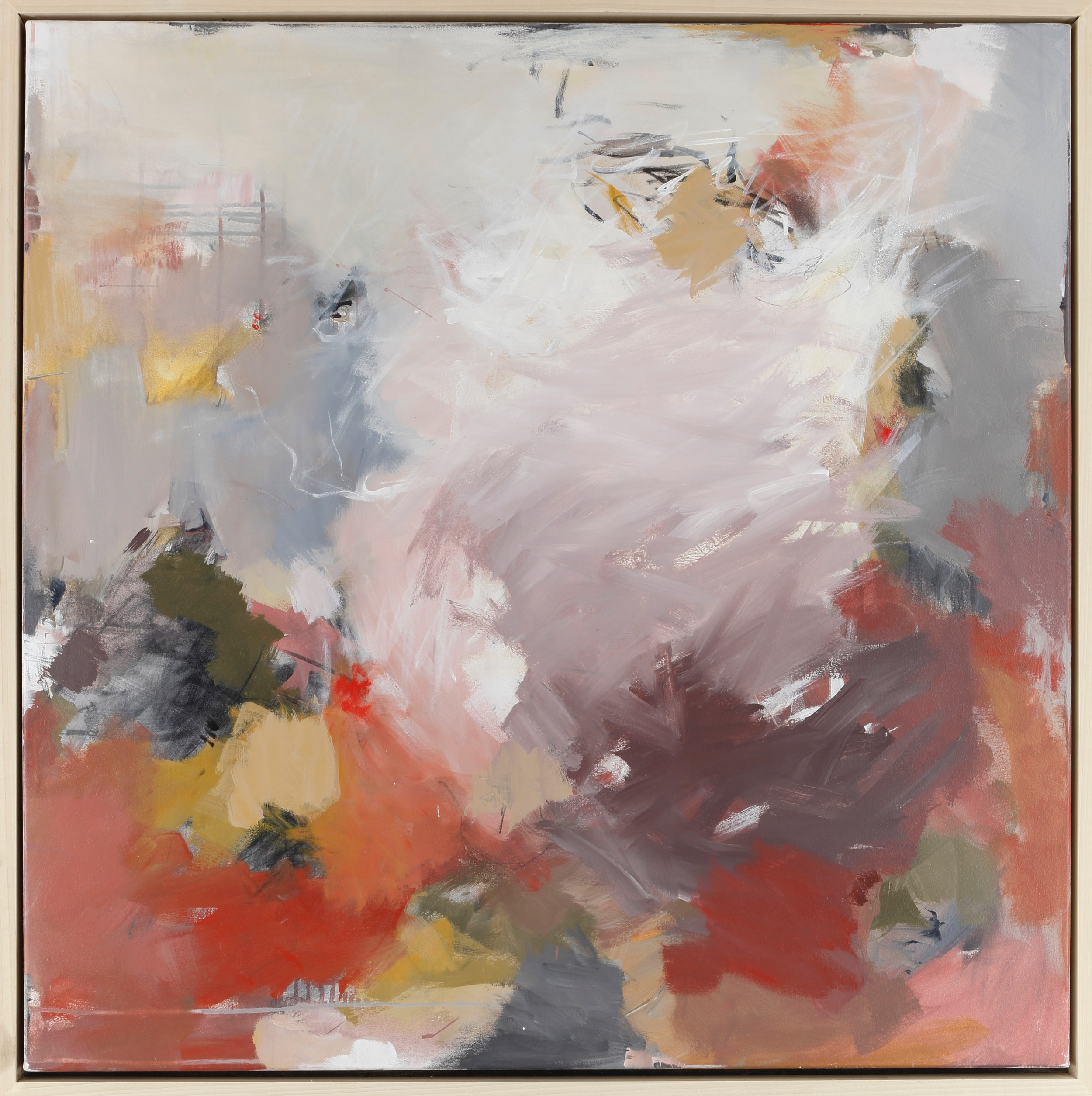 """""""Echo"""" by Teri Dryden  , 40x40in, acrylic on canvas, $2400 