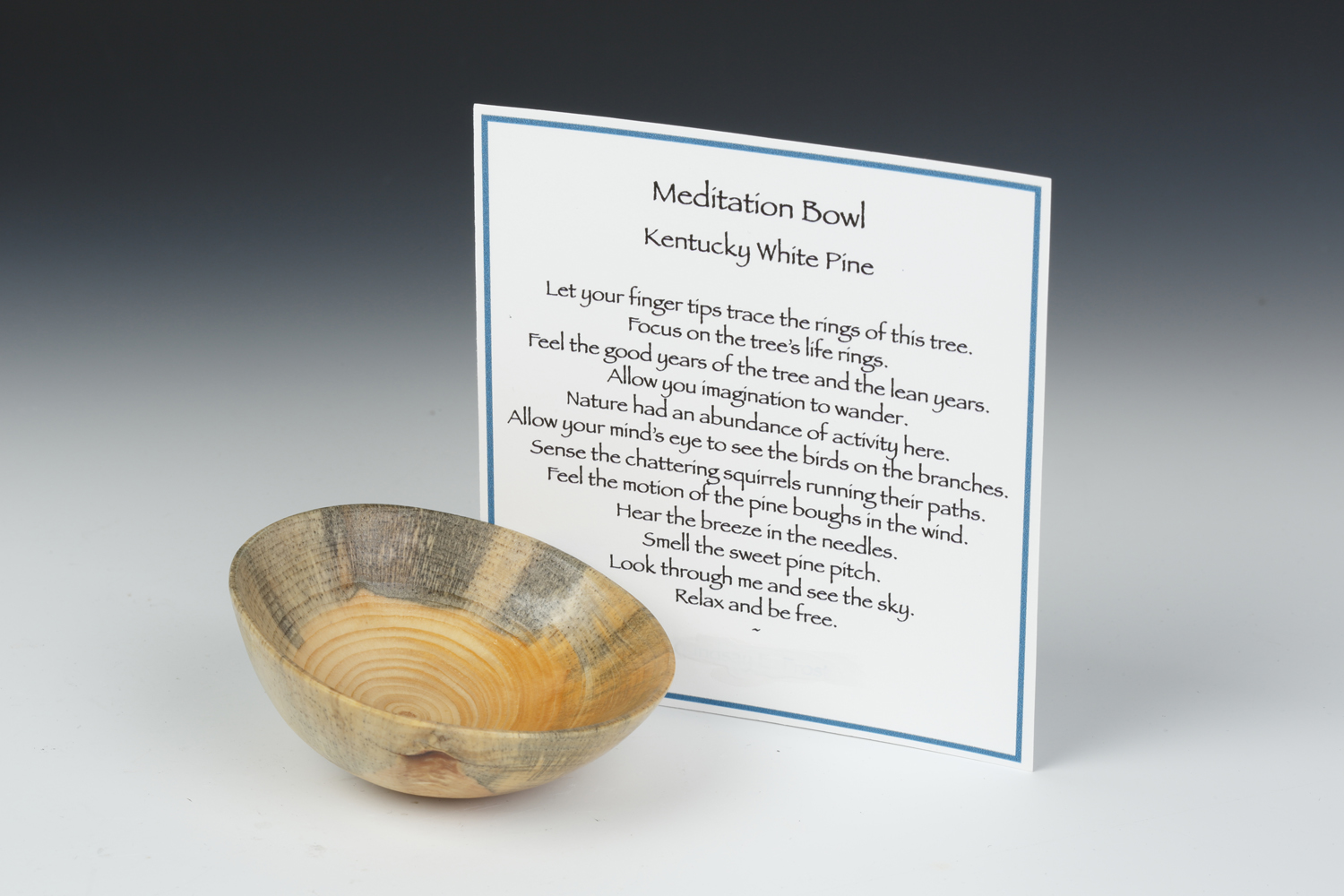 """Meditation Bowls"" by Lindsay Forst, wood, approximately 3x1.5in, $22"