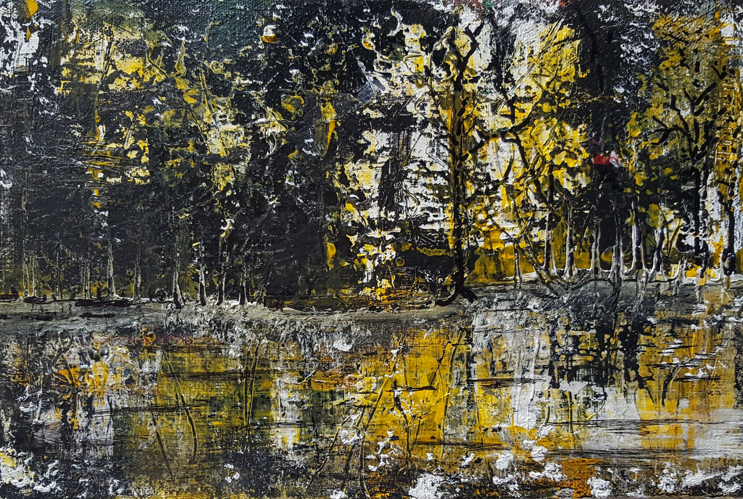 """Banyans"" by   Robert Leo Jones, acrylic on canvas, 9x12in (2016), $125 | BUY NOW"