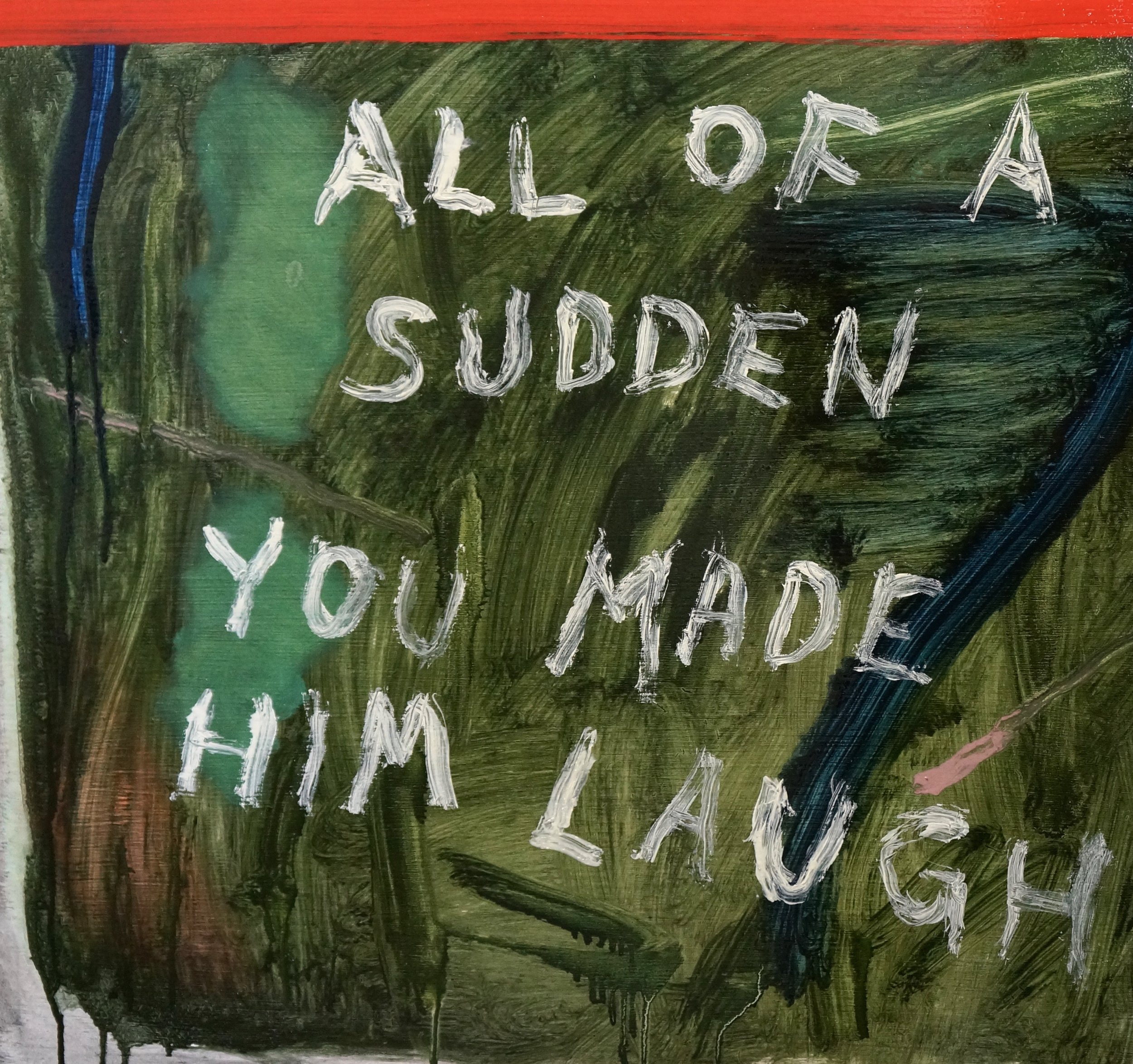 """All Of A Sudden You Made Him Laugh"" by John Brooks, 20x24in, oil on board (2016), $800   