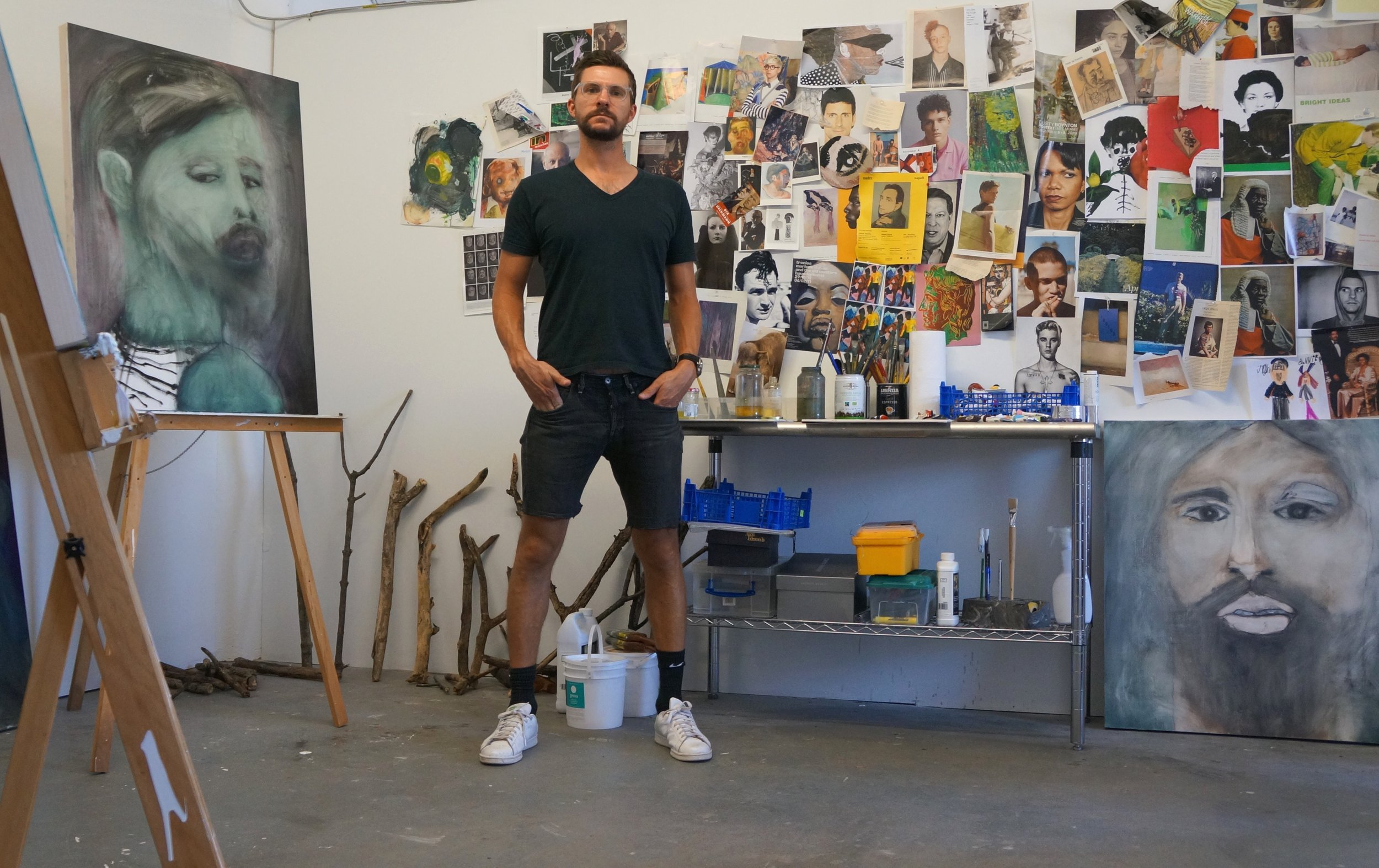 A photograph of John Brooks in his studio.
