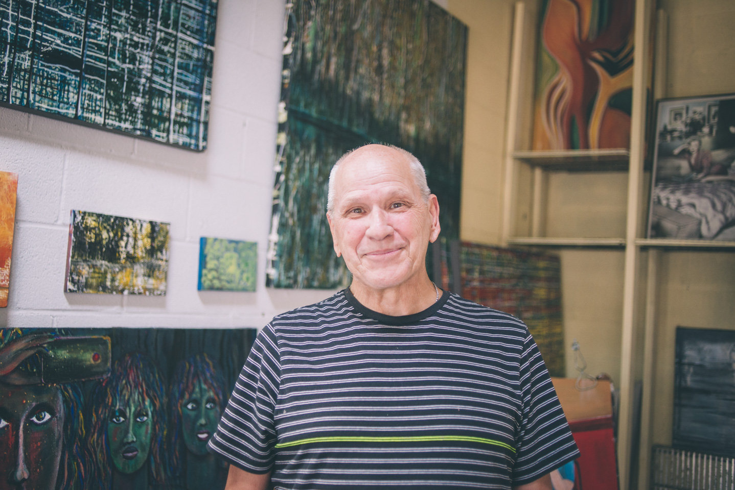Robert Leo Jones in his studio.Photo by Sarah Katherine Davis For LVA (2016).