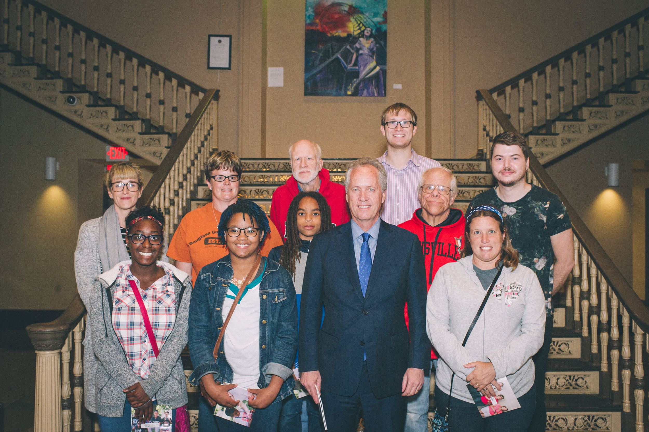 Picture Love participants and facilitators with Mayor Greg Fischer