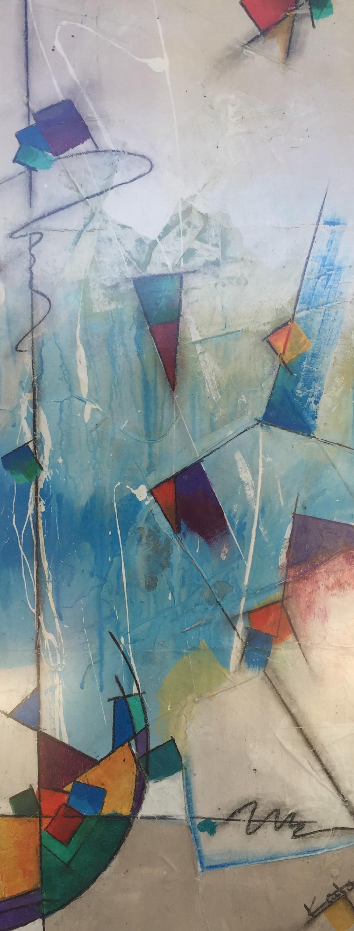 """Fallen Skies"" by David Keator, 13x31in, oil on canvas, $950 | BUY NOW"