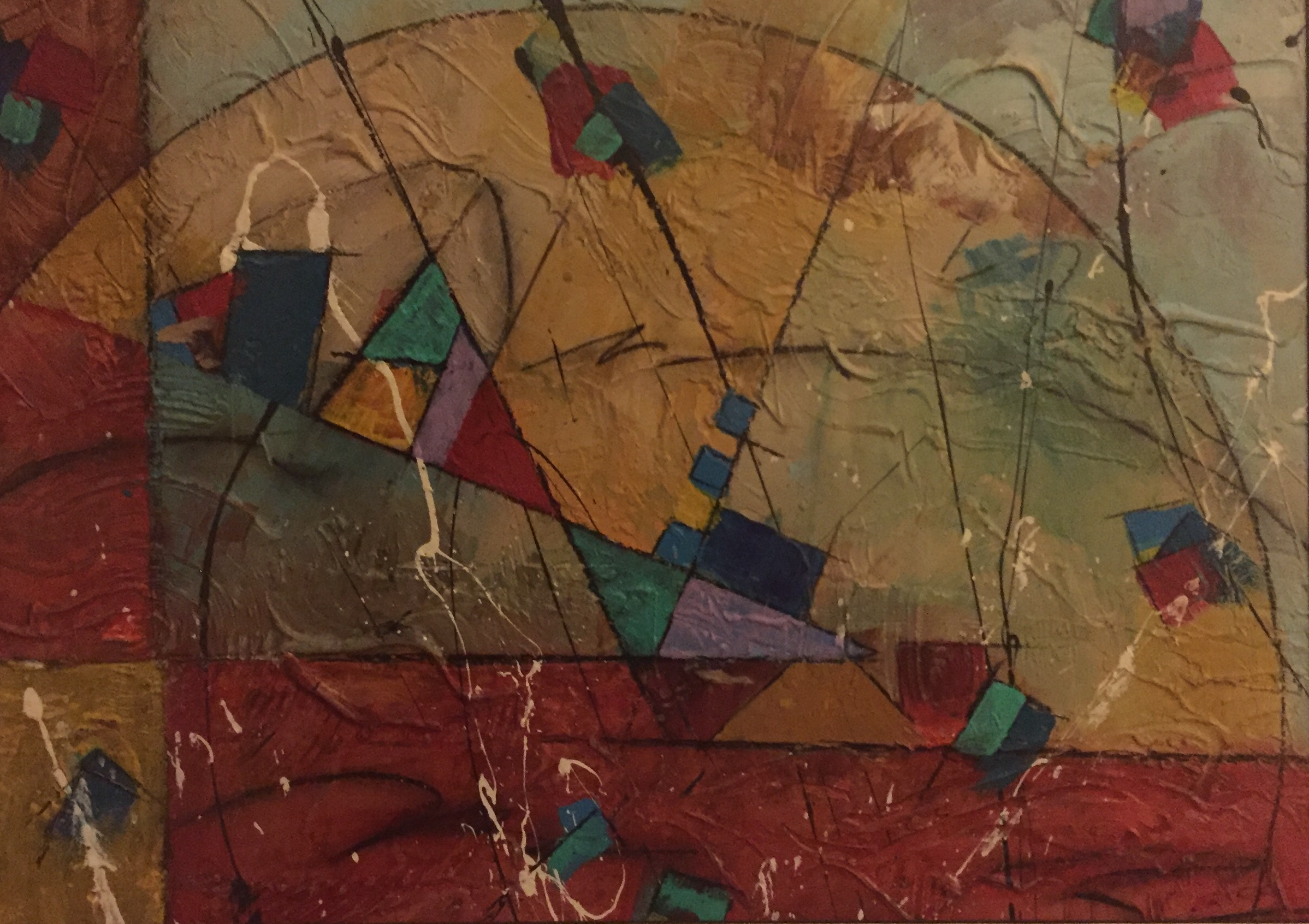 """""""Abrupt Turbulence"""" by David Keator, 15x20.5in, oil on canvas (2014), $600  