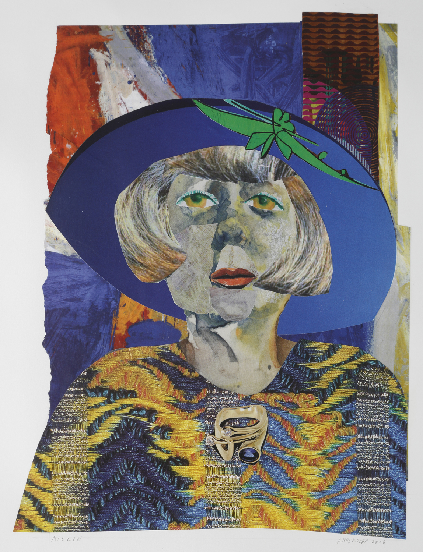"""Millie"" by Ann Stewart Anderson, 14x12in, paper mosaic (2016)"