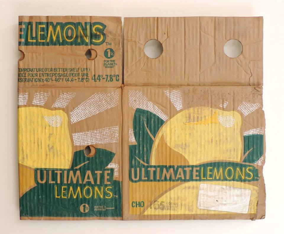 """Ultimate Lemons"" by Tom Pfannerstill, acrylic and/or enamel on carved basswood (2016)"