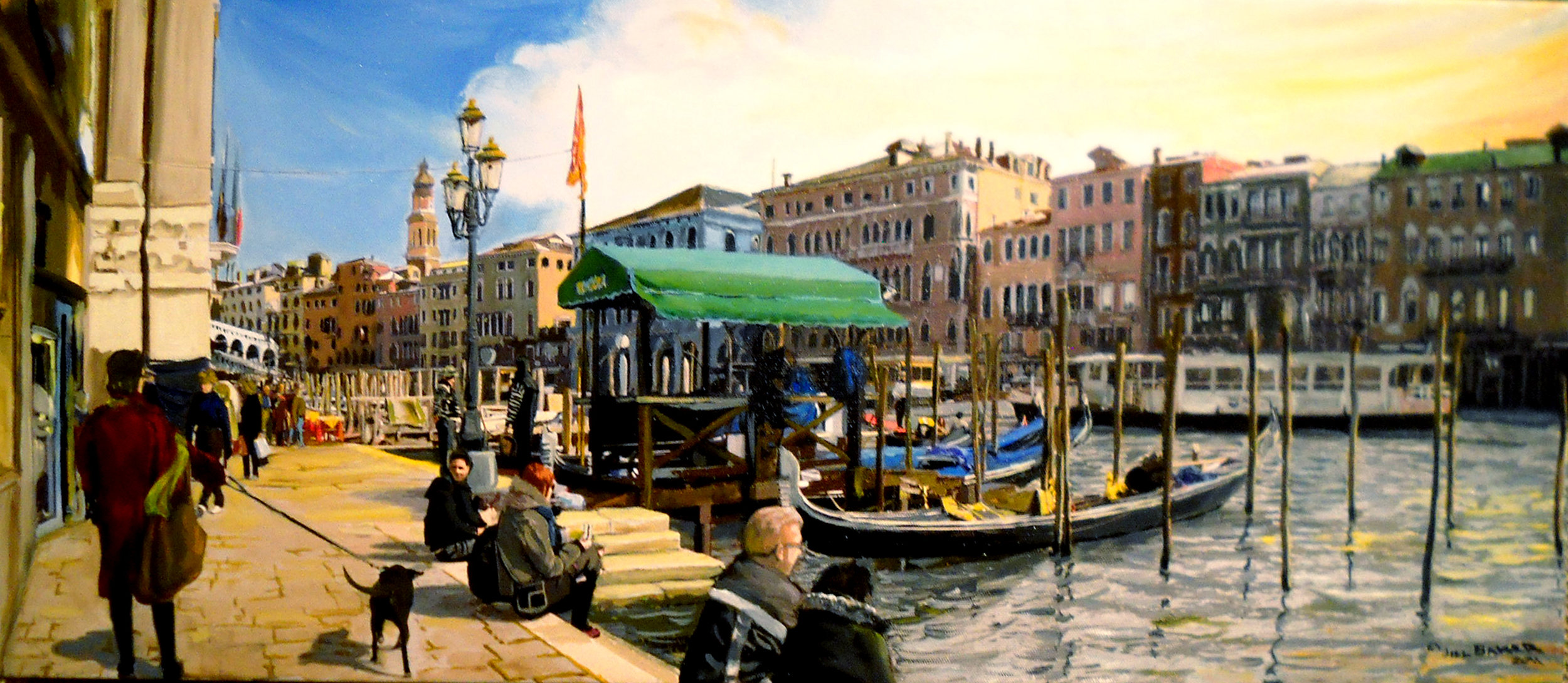 """Grand Canal"" by Jill Baker, 30x12in, oil, $2000 