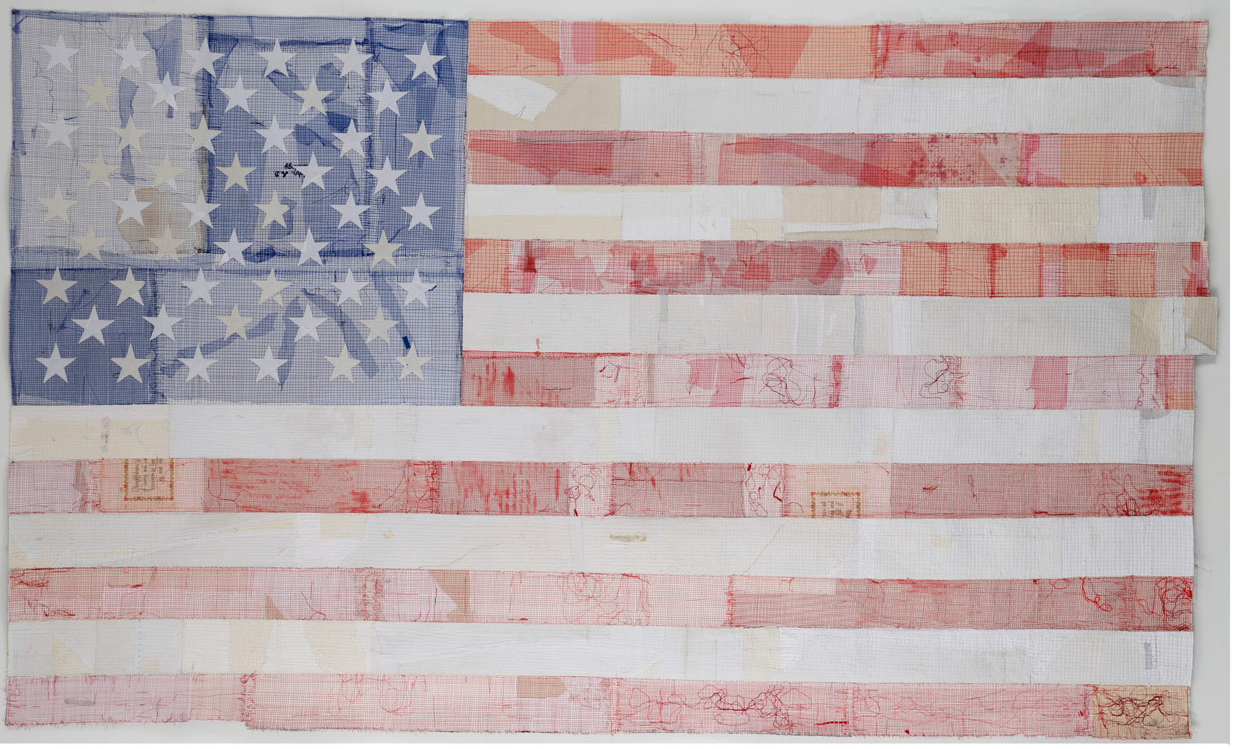 """Fading"" by Kathleen Loomis, 59x99in, fiber (2016) $8000 | BUY NOW"