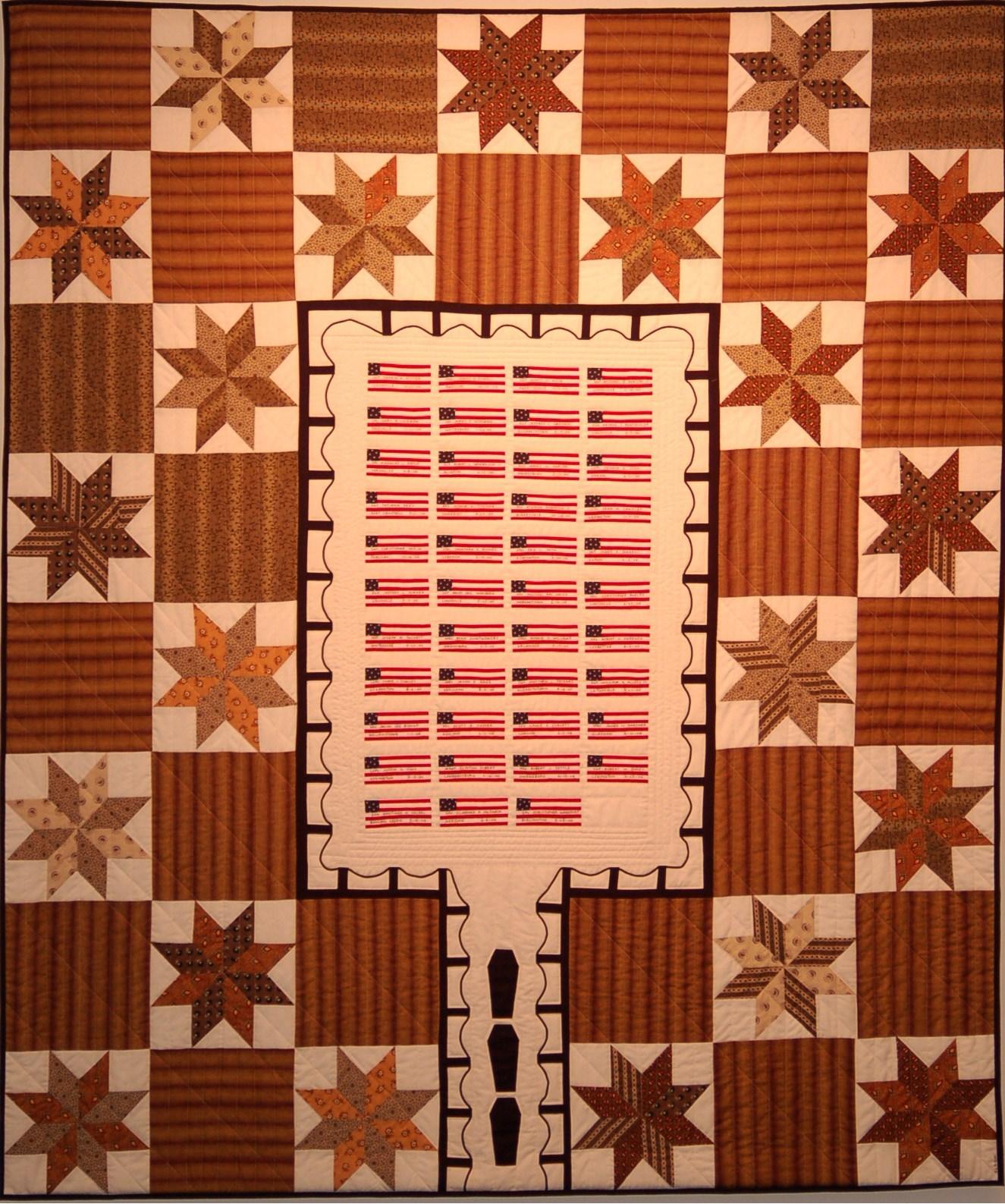 """""""Kentucky Graveyard (Iraq)"""" by Kathleen Loomis, 71x60in, fiber (2006) NFS"""