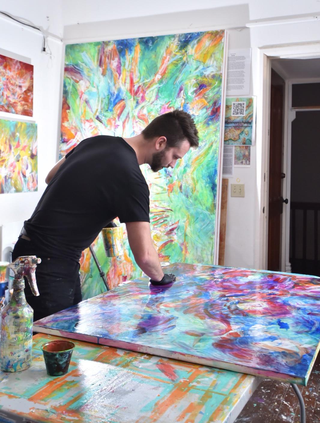 Michalski in his studio   Photograph by Adam Brester