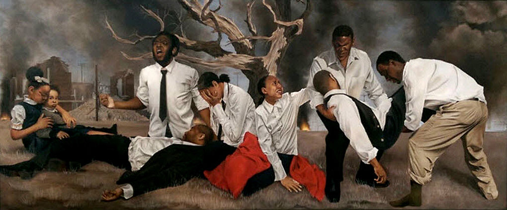 """Shawn Michael Warren, """"In a Promised Land,"""" oil on canvas."""