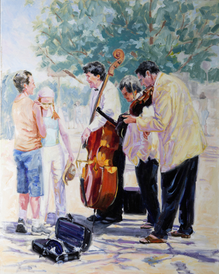 """1st Notes of Spring"" by Catherine Bryant, 30x24in, oil on canvas, $2950 