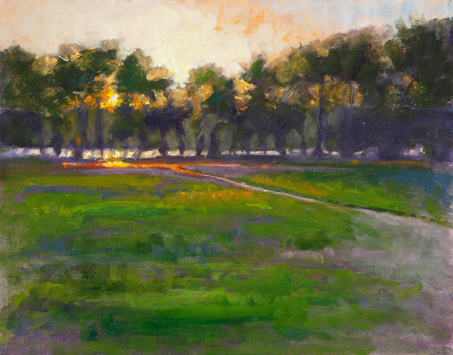 """Sweet Dreams Dear Light,"" by Catherine Bryant, 11x14in, oil on canvas, plein air (2016), $495 
