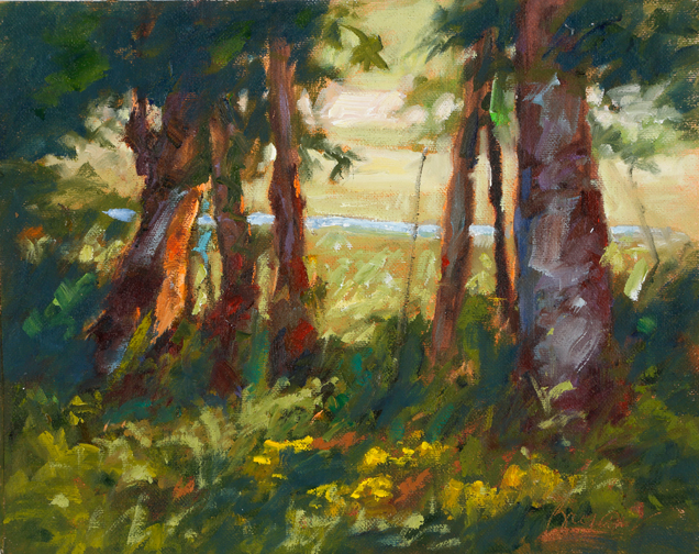 """""""The Trees Speak Softly"""" by Catherine Bryant, 8x10in, oil on canvas (plein air), $395 