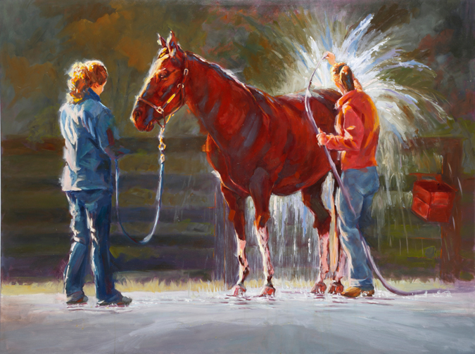 """Warm H2O"" by Catherine Bryant, 36x48in, oil on canvas (2015)"