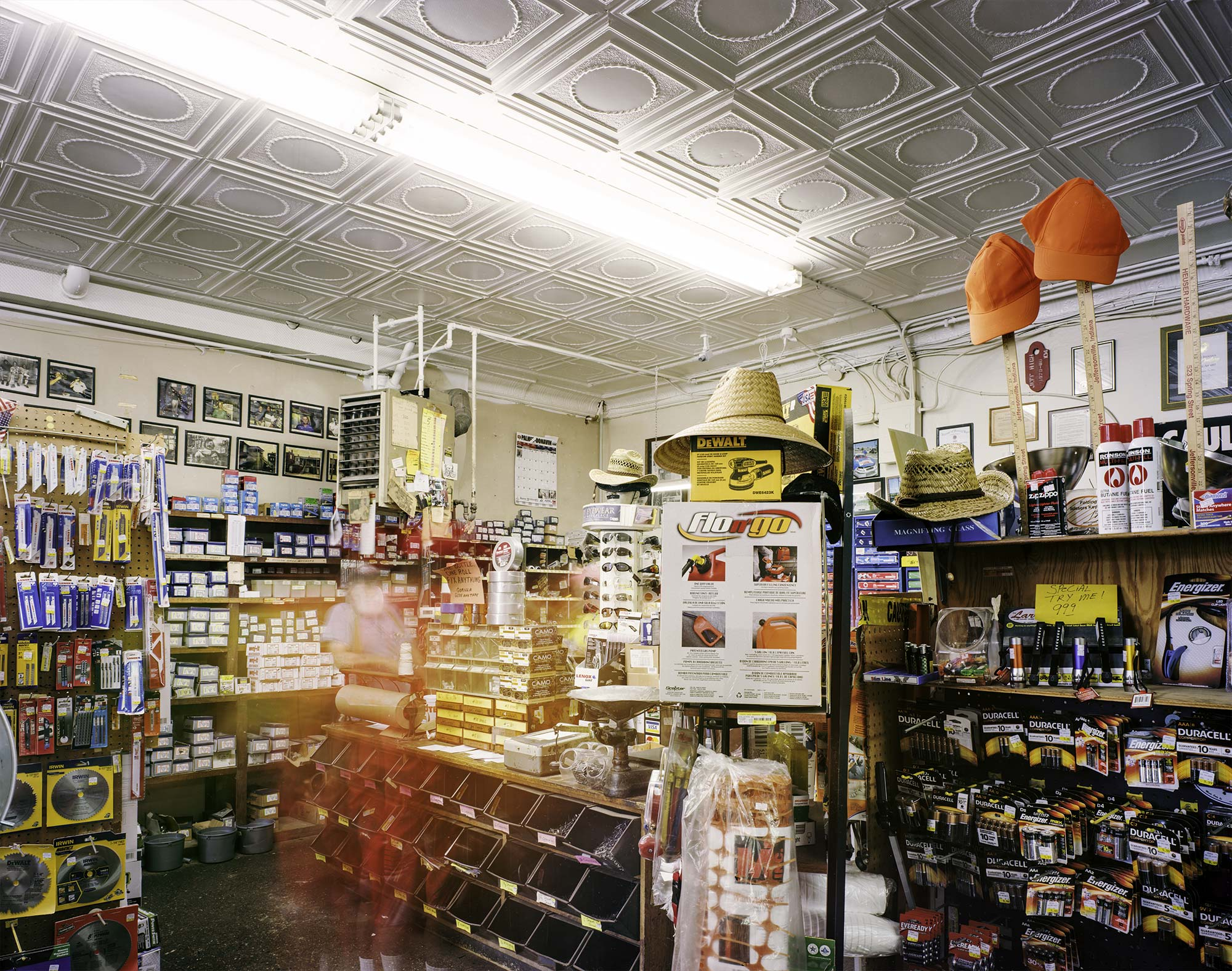 """  Heuser Hardware"" by Charles Mintz, 32 x 40in, Inkjet Print From Scanned FIlm (2016), $1000 
