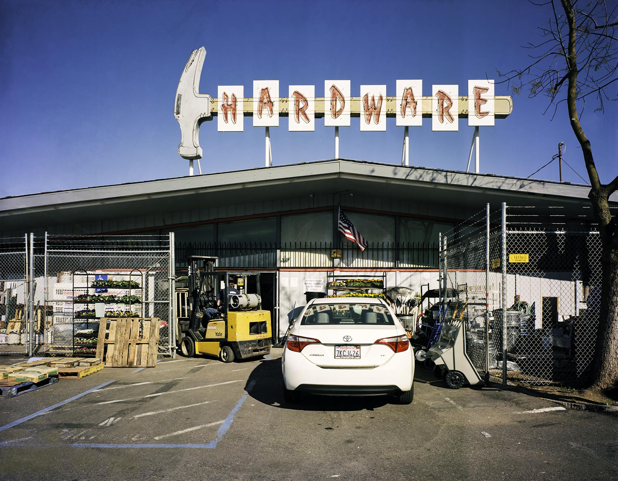 """  Hollywood Hardware"" by Charles Mintz, 32 x 40in, Inkjet Print From Scanned FIlm (2016), $1000 