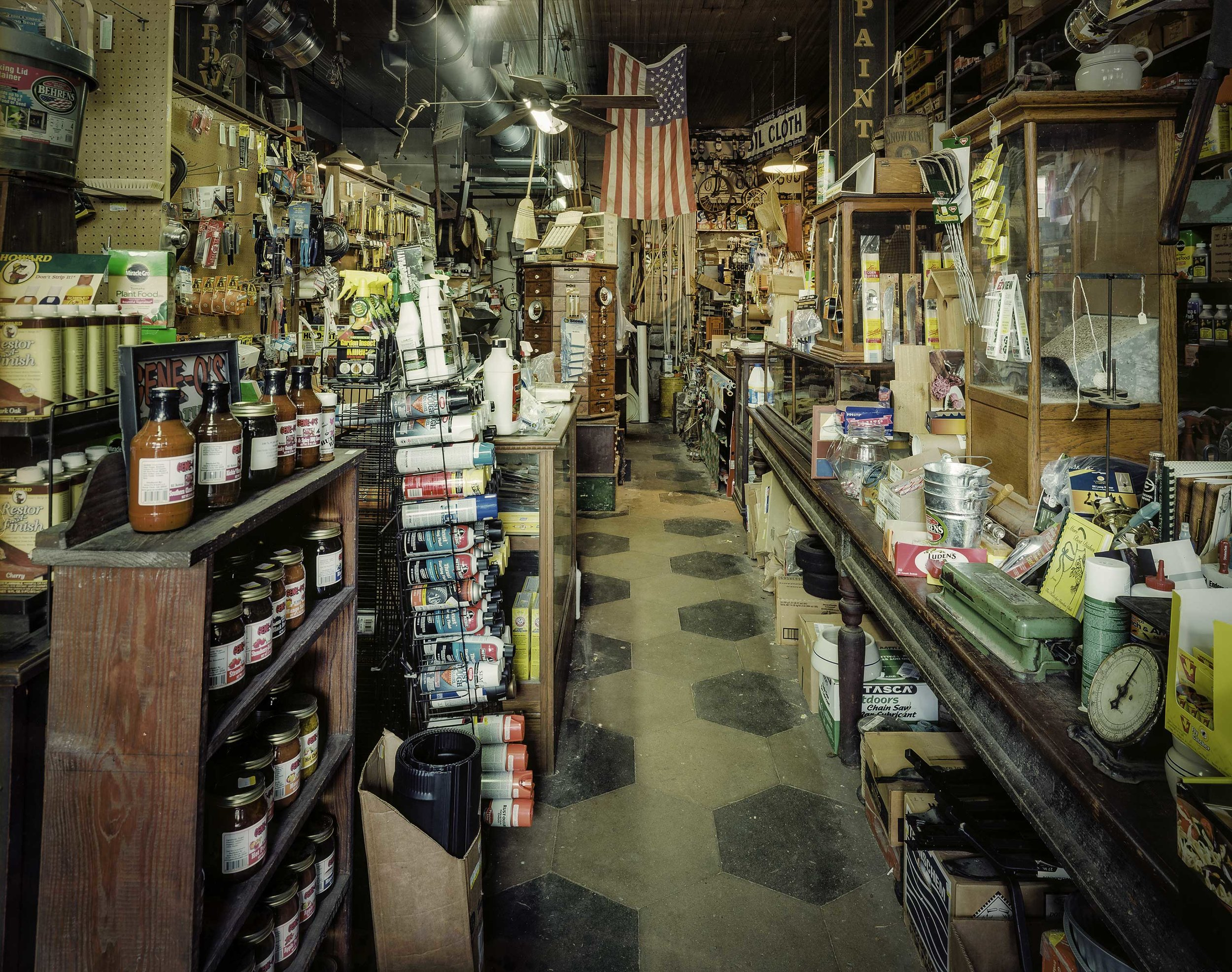 """  Rutledge Hardware"" by Charles Mintz, 32 x 40in, Inkjet Print From Scanned FIlm (2015), $1000 