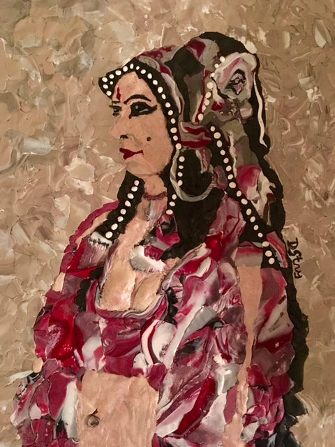 """  Gypsy Dancer"" by Deborah Stanley, 9x12in, polymer clay (2016) $425 