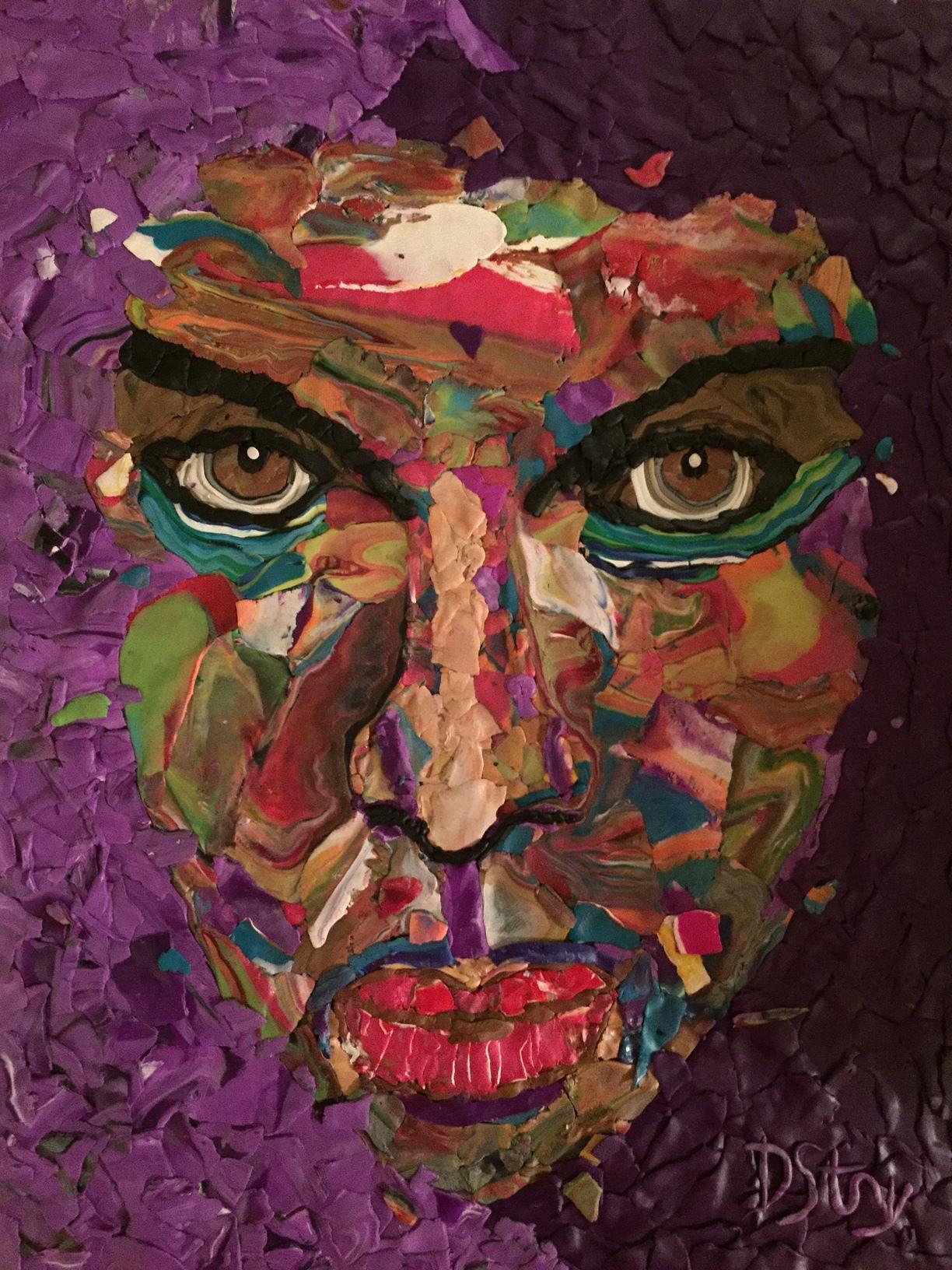 """The Purplest"" by Deborah Stanley, 11x142in, polymer clay (2016), $500  | BUY NOW"