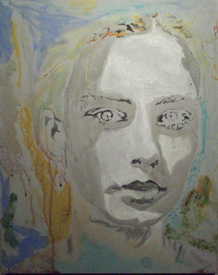 """""""Girl Stepping Out of Shadow"""" by Michael Victor Troutman,16x20in, acrylic on canvas (2012), $169 