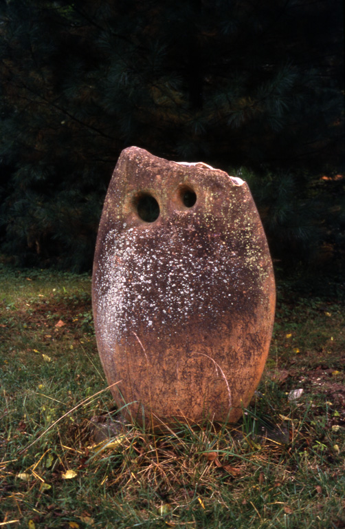"""  Approaching"" by Marsh Pottery,   conjunction in situ (1992). Photograph courtesy of the Hite Art Institute."