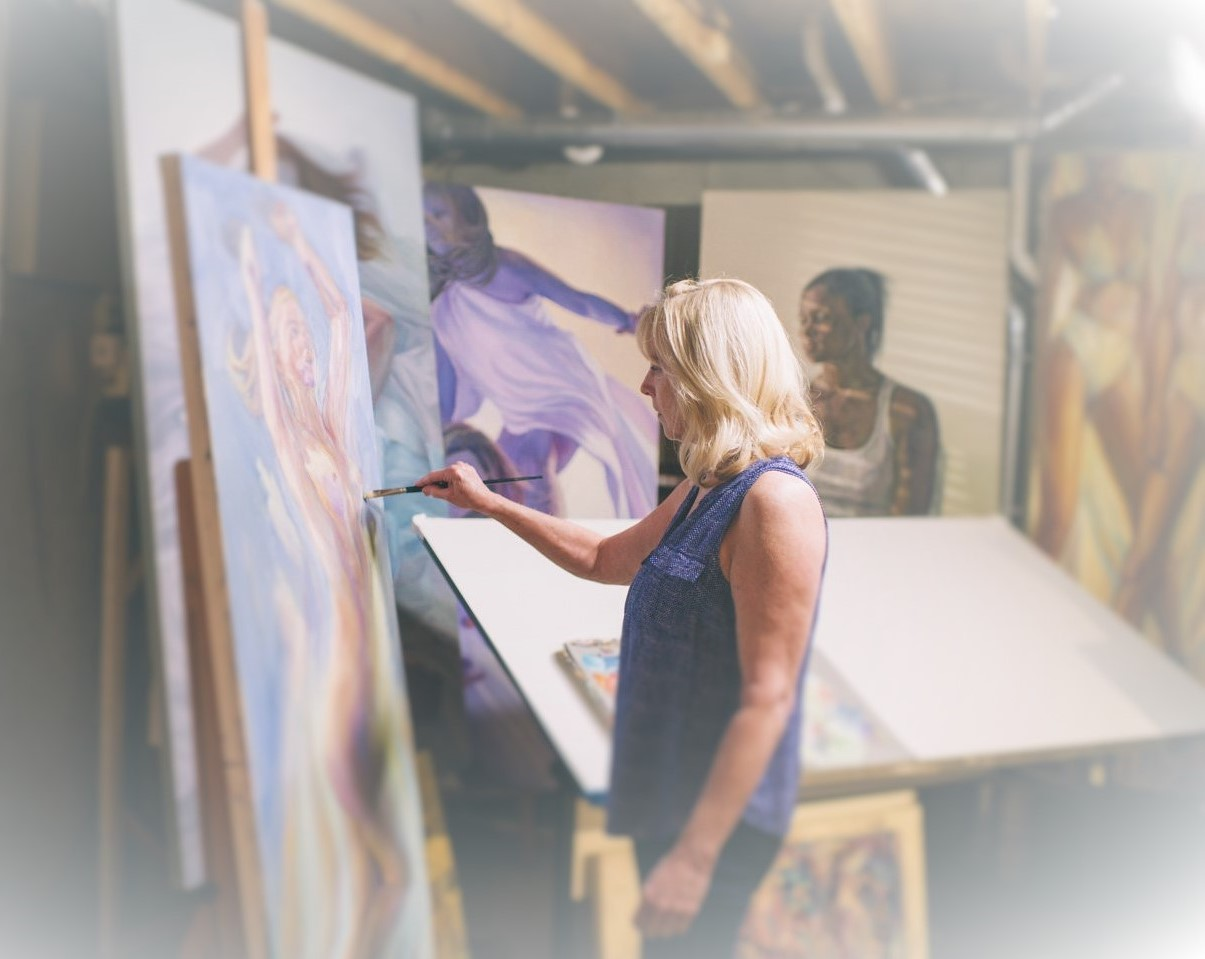 Lott in her studio.
