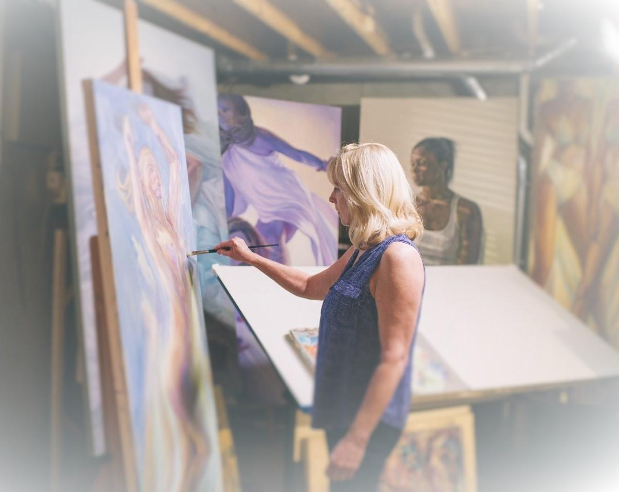Lott in her studio.