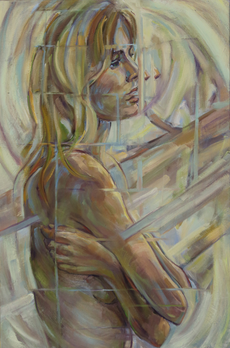 """Self Love"" by Debra Lott, 30x20in, oil on canvas (2017), $775 