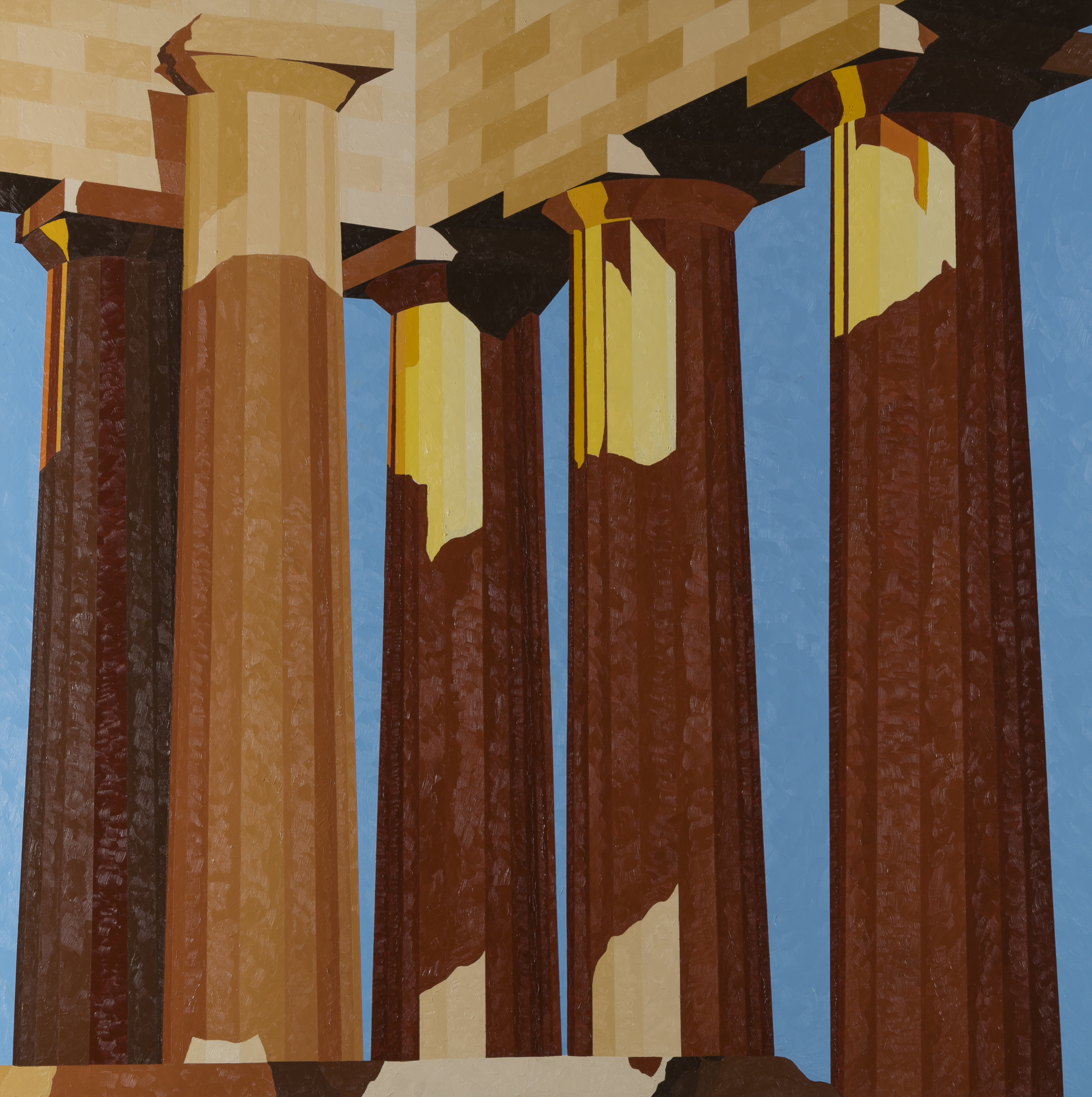 """Parthenon"" by Barry Burcaw, 50 x 50in, oil on canvas (2016), $4500 