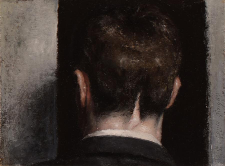 """""""Black Bile"""" by Jordan Lance Morgan, 6x8in, oil on linen on board (2015)"""