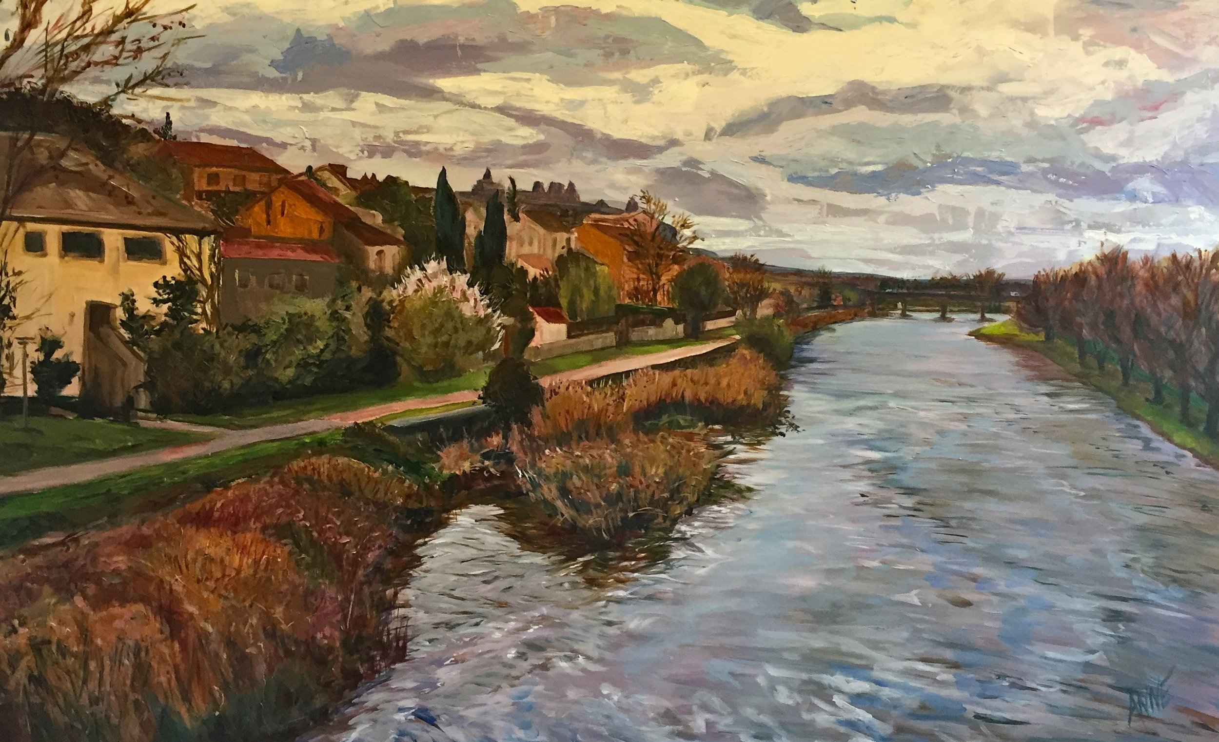 """ Carcassonne e"" by Anne Borders, 30x48in, Acrylic on Canvas, $2100 