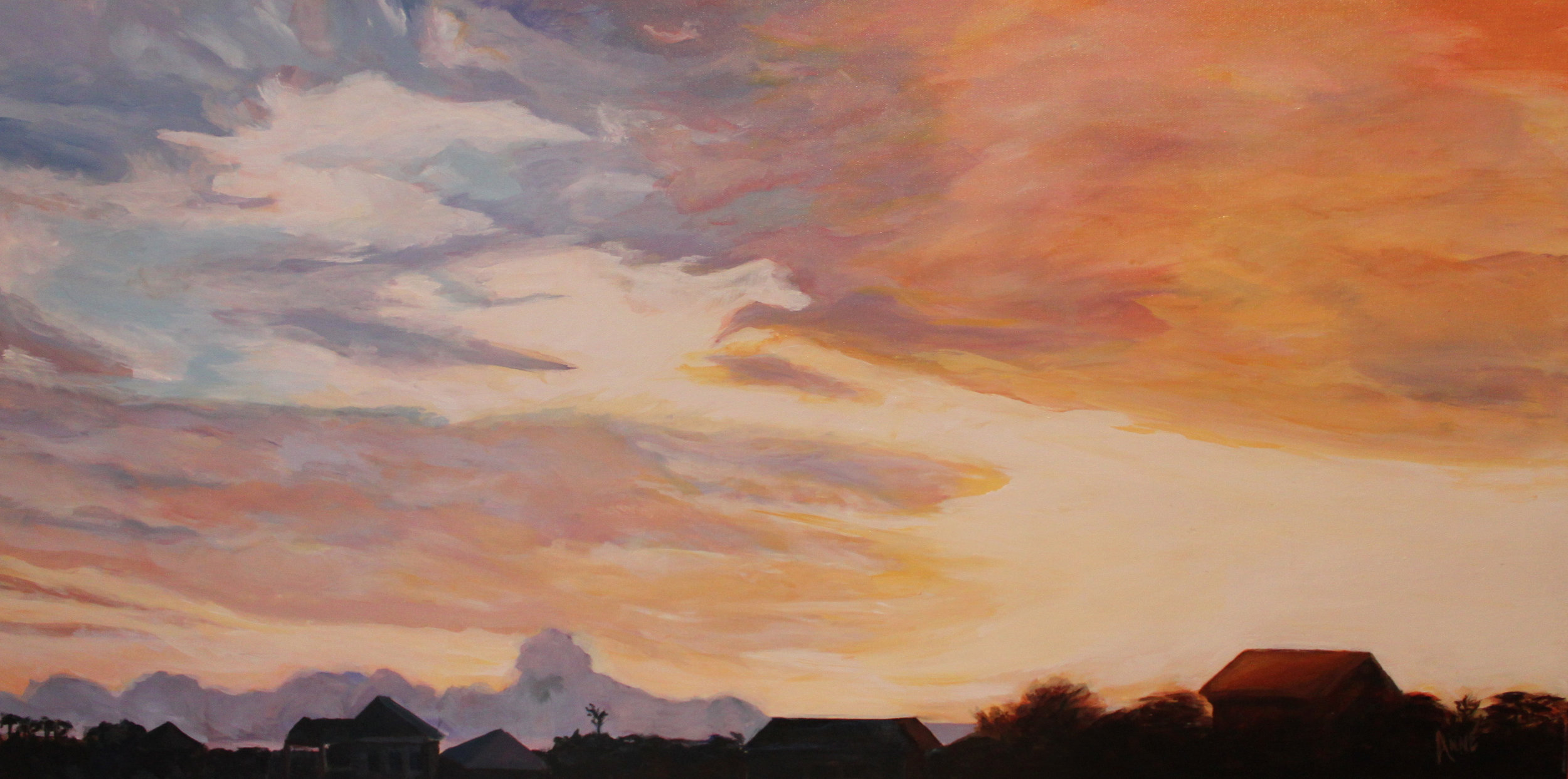 """Rooftops at Sundown"" by Anne Borders"