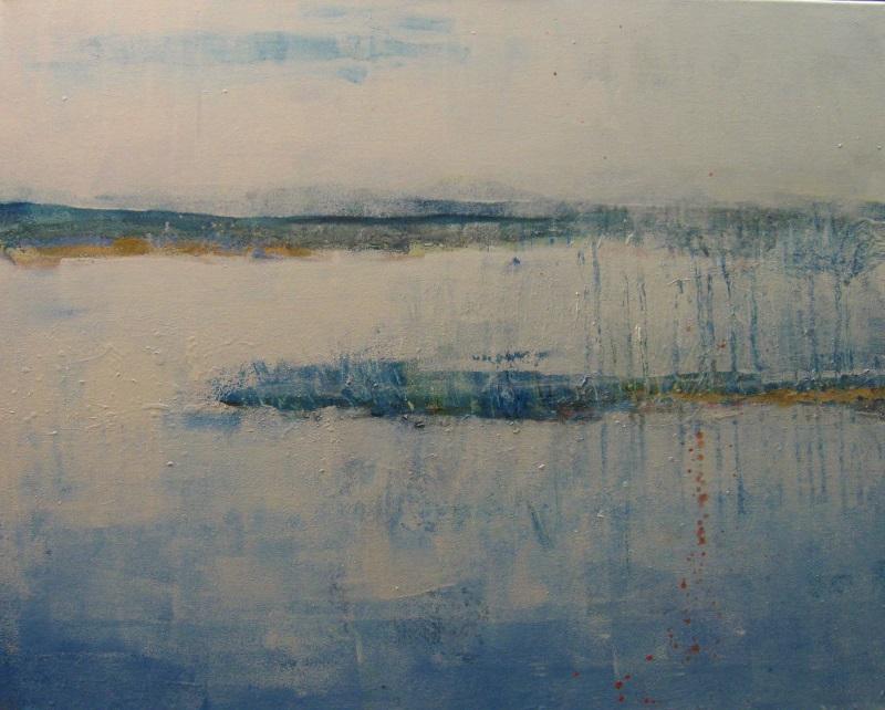 """Rain and Rain"" by Corie Neumayer, 24x30in, acrylic, latex (2017), $600 | BUY NOW"