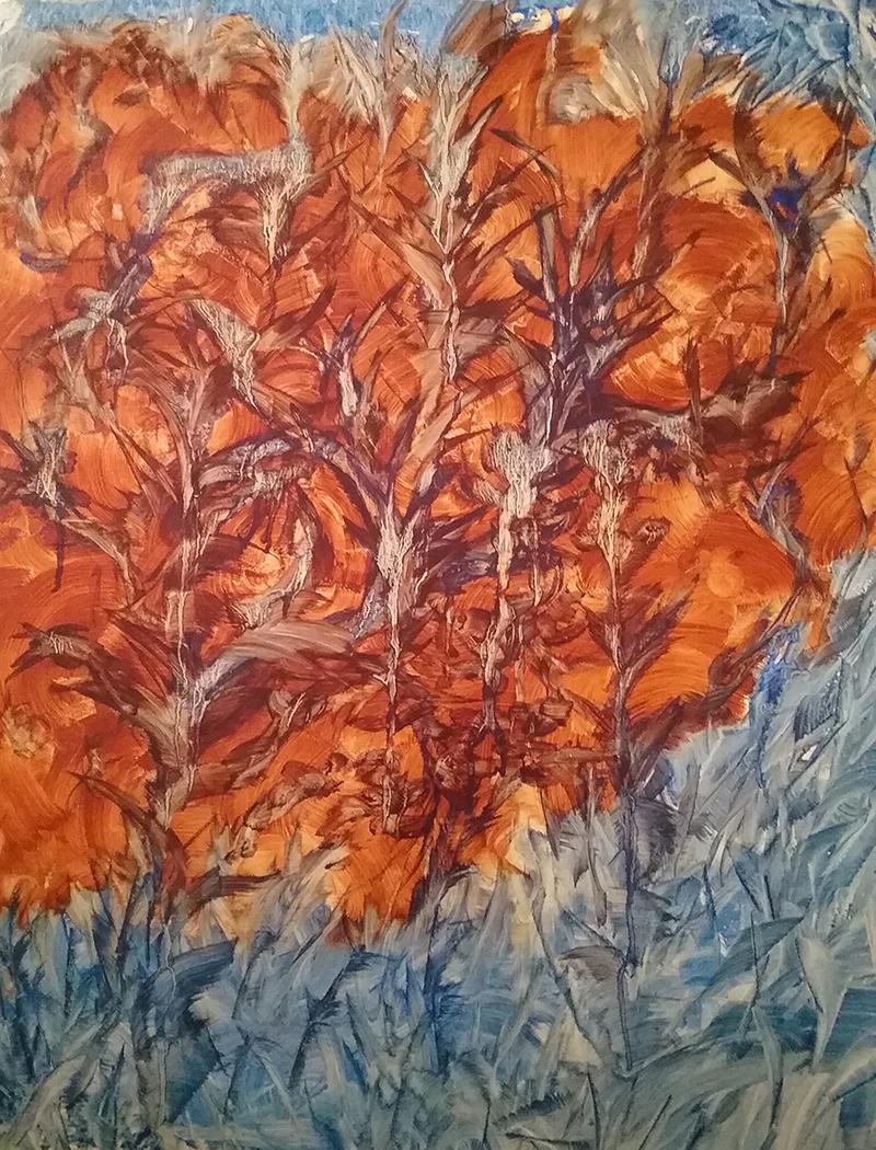 """Toska"" by Susan Dworkin, 28x23in, vinegar paint (2017), $650| BUY NOW"