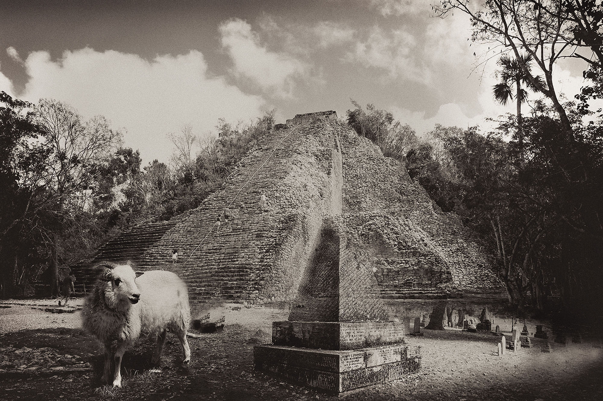 """Pyramid"" by Marcia Hopkins, 17x22in, digital archival print (2017), $500 