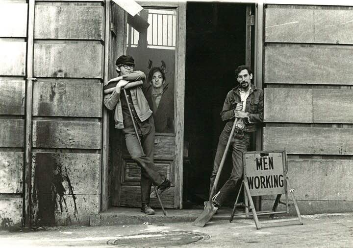 Nathan Felde, Fred DeSanto, and Julius Friedman (c.1970) outside Images studio. Photographer unknown, courtesy Tad DeSanto.