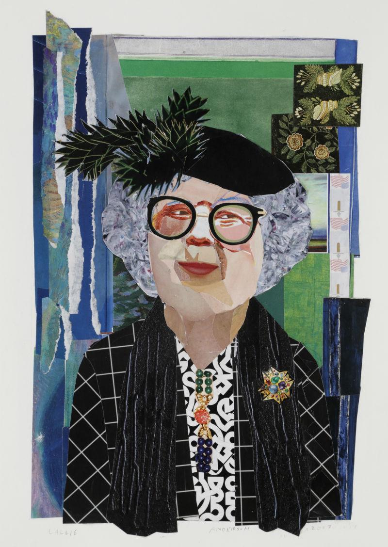"""""""Callie"""" by Ann Stewart Anderson, 16x12in, cut paper mosaic (2017)"""