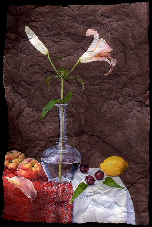 """Still Life with Lily and Figs"" by Mitch Eckert, 24x18in, Archival Pigment Print (2006), $500 