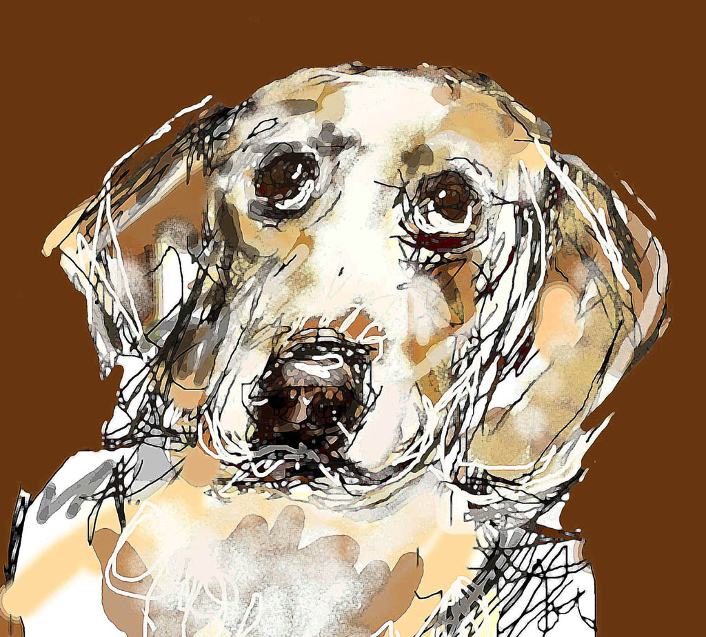 """Beagle"" by Joyce Goldin, digital painting (2017)"